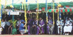Graduates waiting for the graduation, left Faculty of Orthopaedic Technology BSc