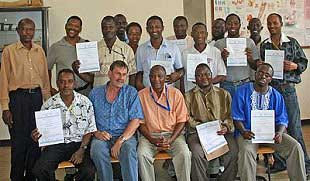 eLearning participants after successful examination