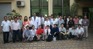 Course Participants, right Mr. Thanh Director of VIETCOT